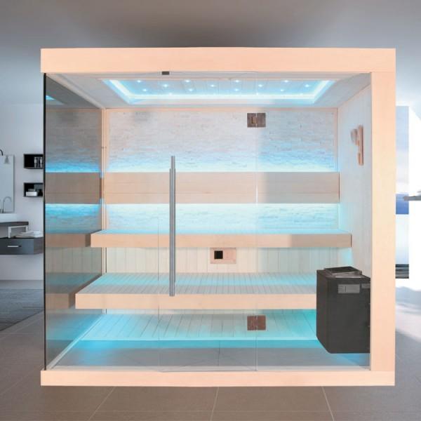 EO - SPA Sauna B1245B Pappelholz/ 200 x 180/ 9kW EOS Bio - Thermat