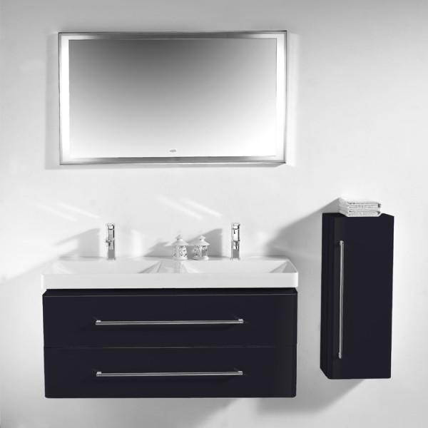EAGO Badmöbel Miami MX-1200 schwarz/120x48