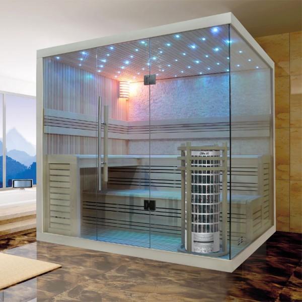 EOSPA Sauna E1105A Pappelholz/220x180/9kW Cilindro