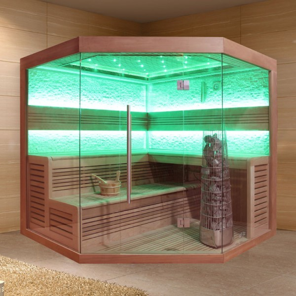 EOSPA Sauna E1242B rote Zeder/200x200/9kW Kiwi