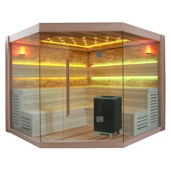 EO-SPA Sauna E1415 XL rote Zeder/250x250/9kW EOS Cubo