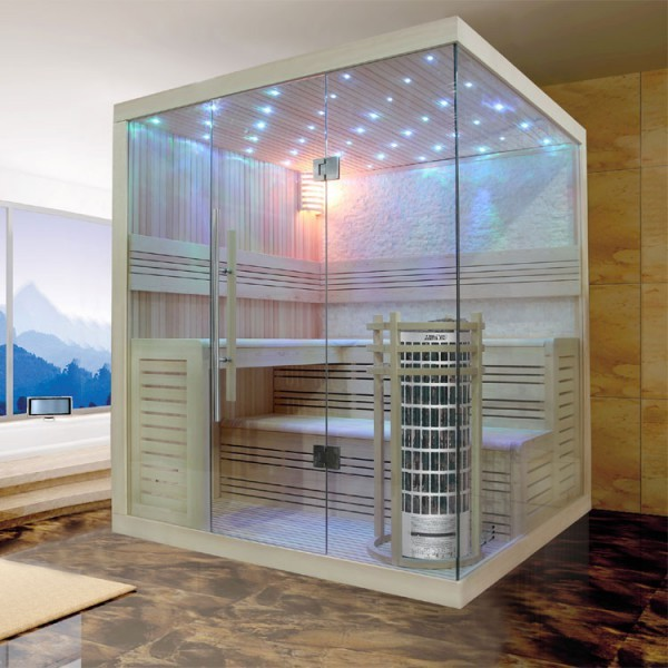 EOSPA Sauna E1105B Pappelholz/200x180/9kW Cilindro
