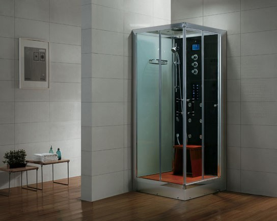 Dampfdusche Aqualine WS133S6 weiss, rechte Version