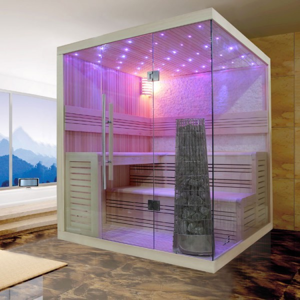 EOSPA Sauna E1105C Pappelholz/180x180/9kW Kiwi