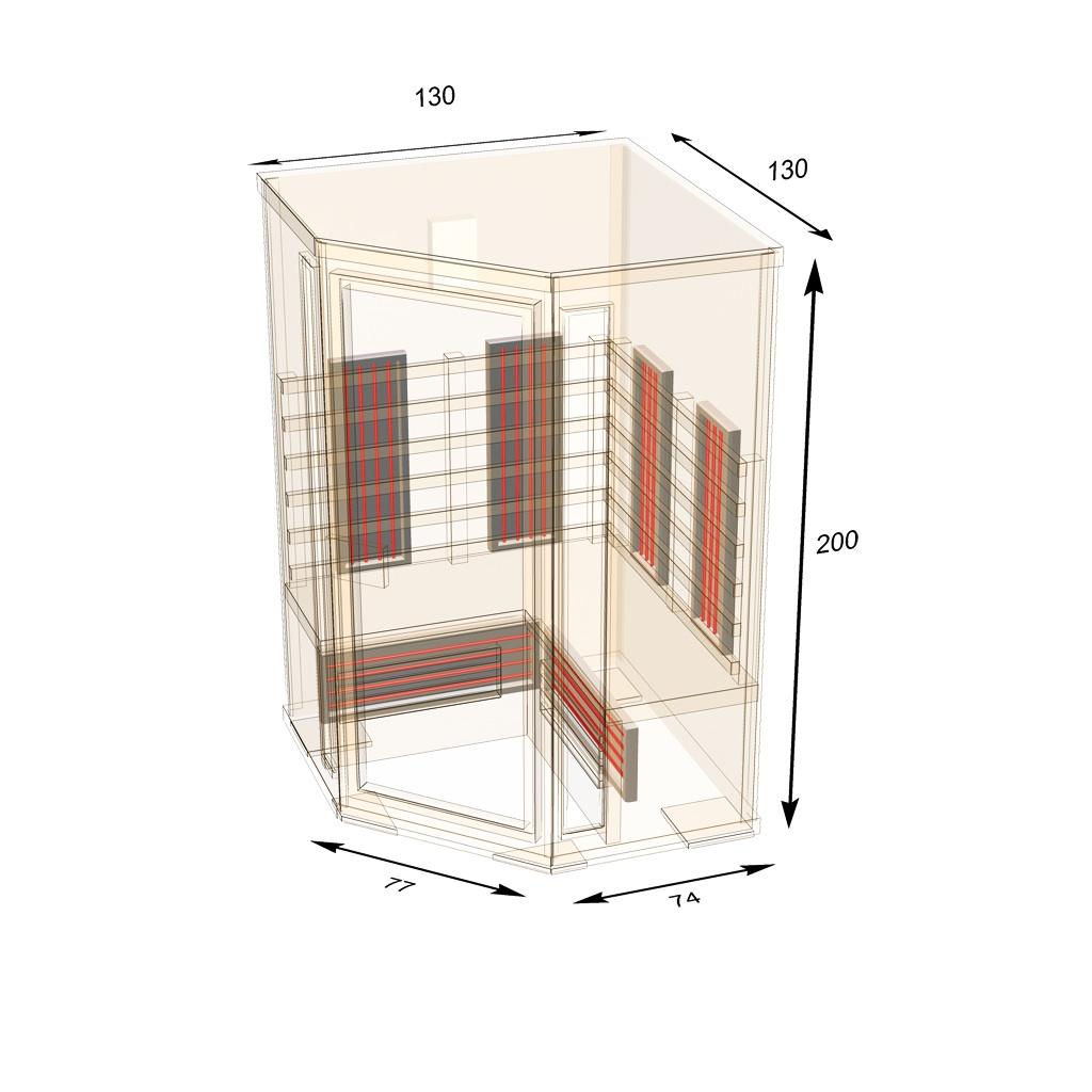 infrarotkabine ath130c hemlockholz sauna doppelstrahler neuheit 2017 ebay. Black Bedroom Furniture Sets. Home Design Ideas