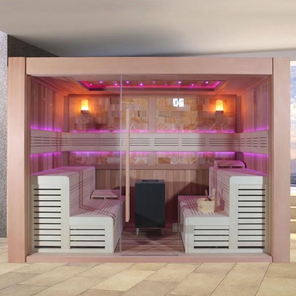 EO-SPA Sauna E1400C rote Zeder/300x300/12kW EOS Cubo