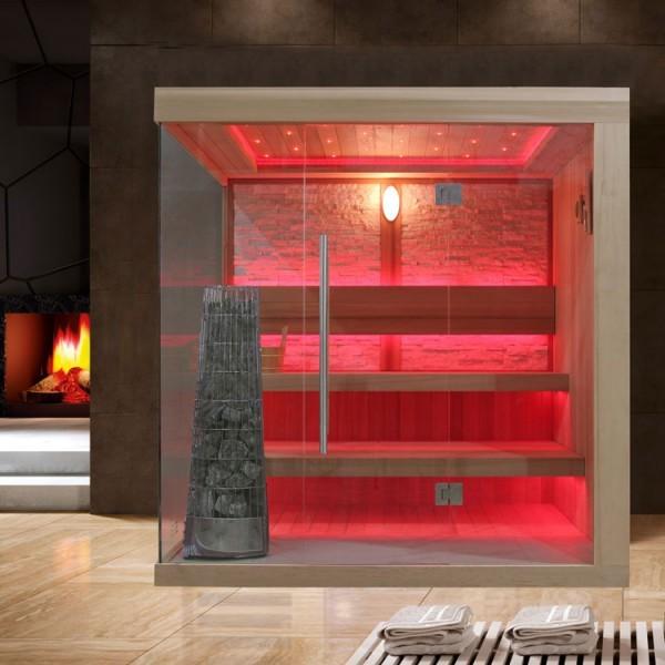 EOSPA Sauna E1245B rote Zeder/200x180/9kW Kiwi