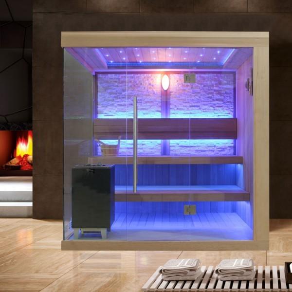 EOSPA Sauna E1245A rote Zeder/220x180/9kW EOS Cubo