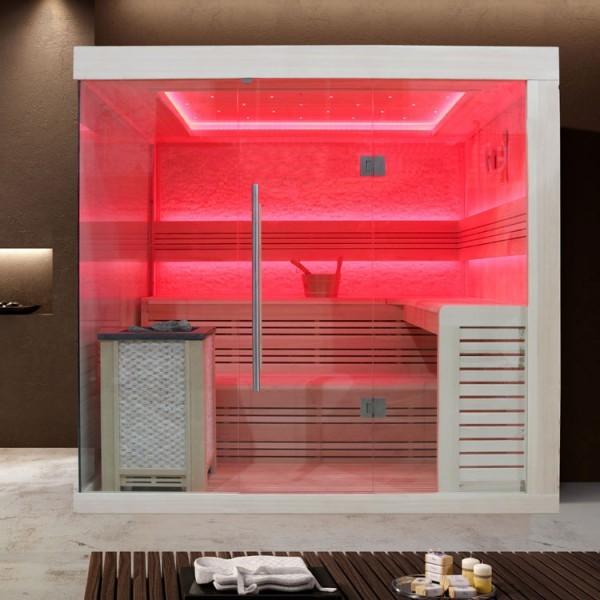 EOSPA Sauna B1246B Pappelholz/200x180/9kW EOS BiO-Max