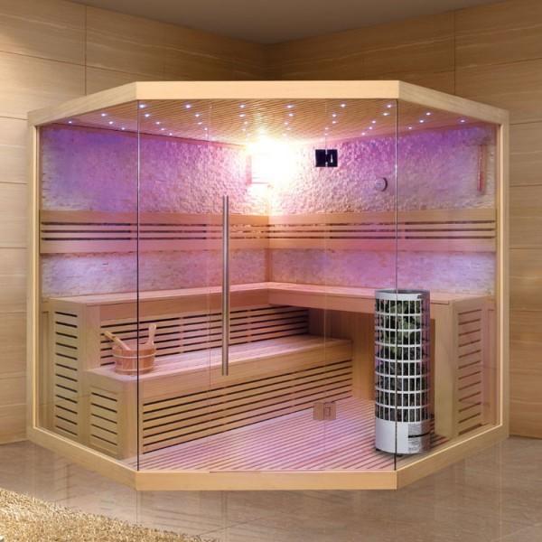 EO - SPA Sauna E1101C Pappelholz/ 180 x 180/ 9kW Cilindro