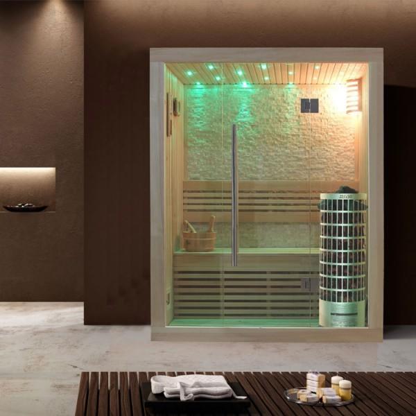 EO-SPA Sauna E1103B Pappelholz/150x105/6.8kW Cilindro